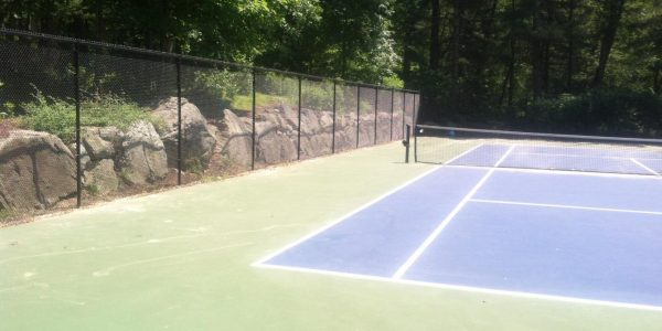 8' High Black Vinly Coated Chain Link Tennis Court Enclosure