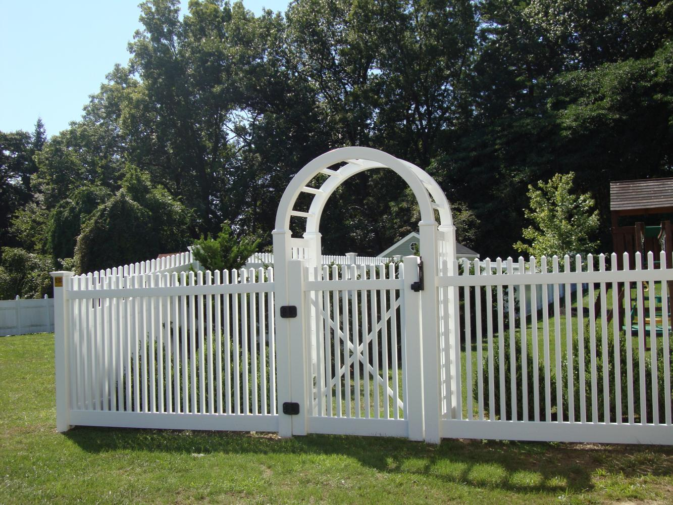 Pvc vinyl reliable fence for Fence with arbor