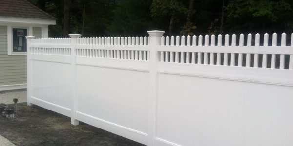 spoke top white pvc fence with federation caps