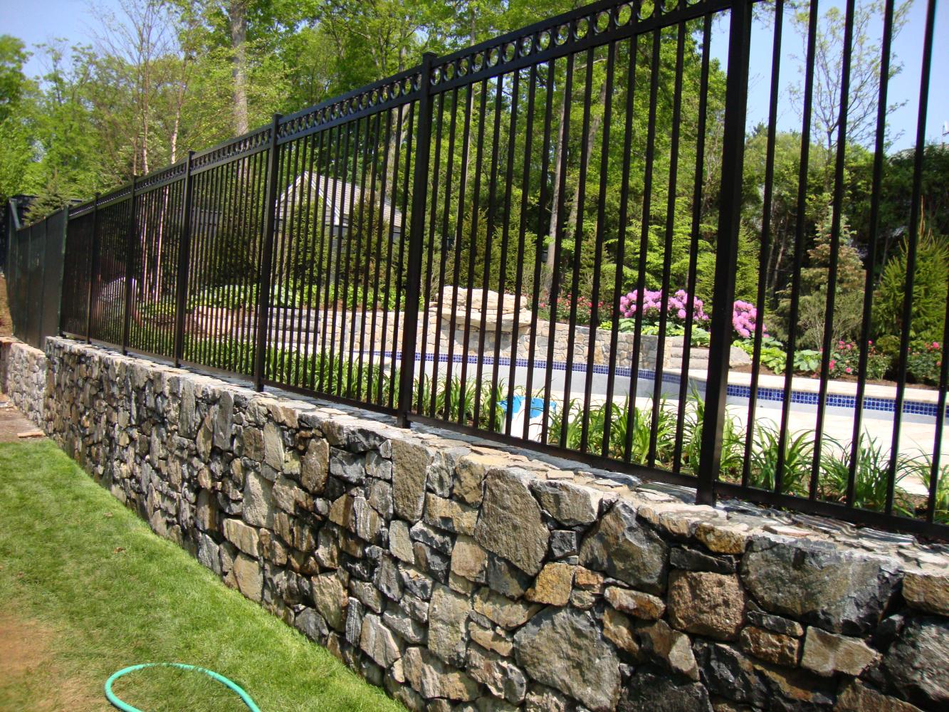 Ornamental Aluminum Wrought Iron Reliable Fence