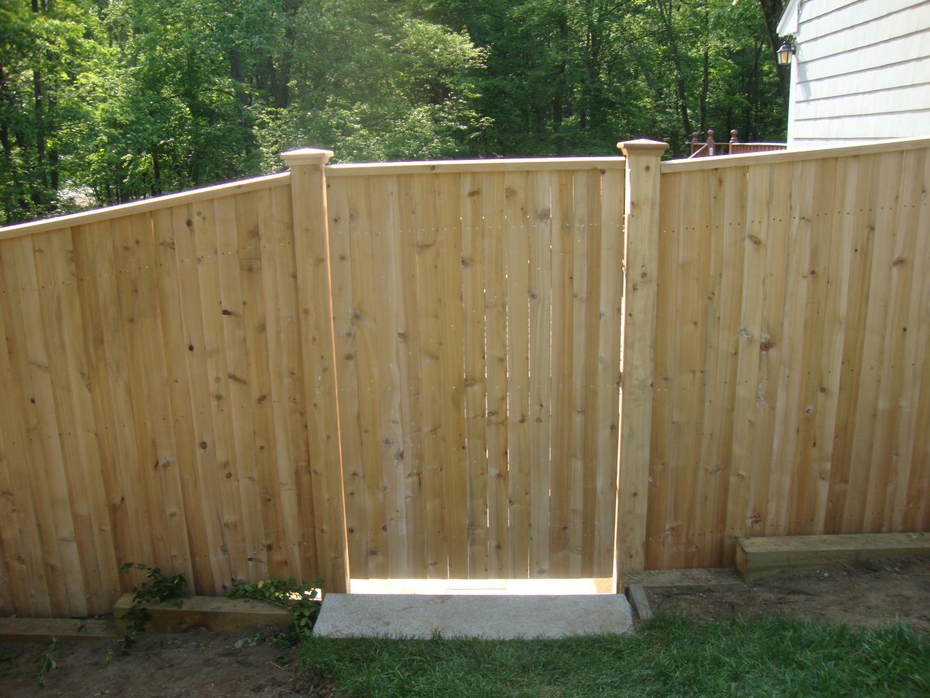 Garden Walk Buffalo Through The Garden Gates 6: 6' High Traditional Cedar Walk Gate