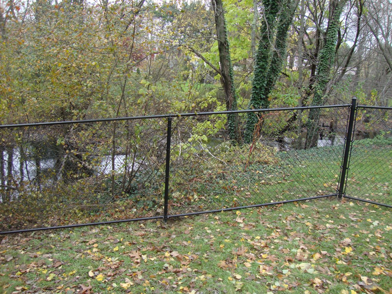 All Black Vinyl Coated Chain Link With Top and Bottom Rail (2 ...