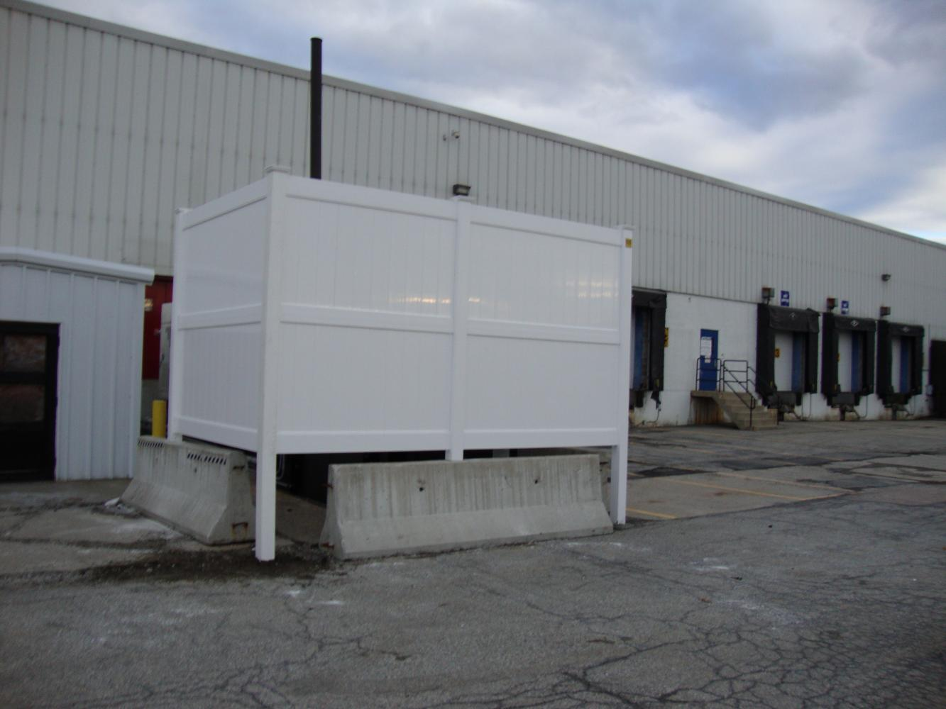 Temporary Fence Enclosures : Dumpster enclosures reliable fence